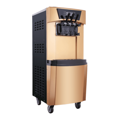 Ice Cream Machine Floor Standing Gold (2 Flavour And Mix)