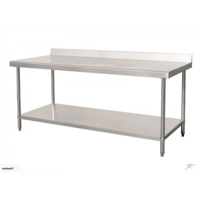 Premium Stainless Steel Table With Splashback 1.8m