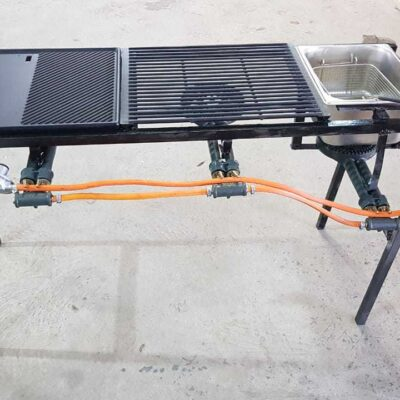 Combination Griller With Griddle And Fryer