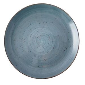 Rustic Blue Coupe Plate 27 cm