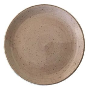 Rustic Brown Coupe Plate 27cm