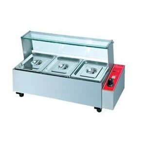 HBM-23 ELECTRICAL 3 Division Bain Marie With Sneeze Guard