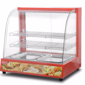 Curved Glass Food Warming Showcase