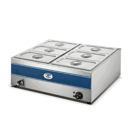 HB1080 – 6 DIVISION BAIN MARIE (WITH TAP)