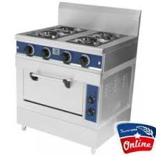 Gas Range with Electric Oven 4 Burner
