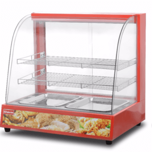 1.2m Curved Glass Food Warmer