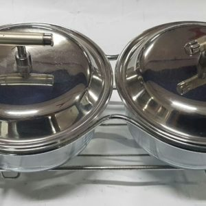 2 Round marinax food warmer