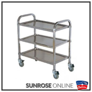 ST004 STAINLESS STEEL SERVING TROLLEY