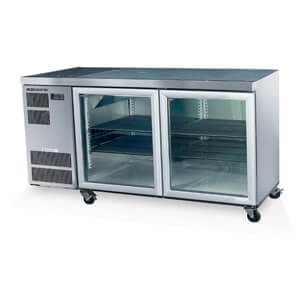 1.5m Under Bar Fridge (with two glass doors)
