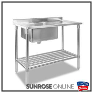 Stainless Steel single bowl sink P1-1400 (with side tray)