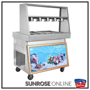 Double Barrel Fried/Rolled ice cream machine